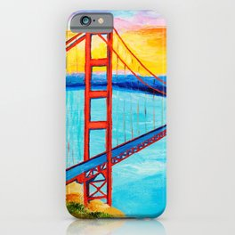 Golden Gate At Sunset iPhone Case