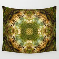 fractal Wall Tapestries featuring Fractal by Rocio Sol