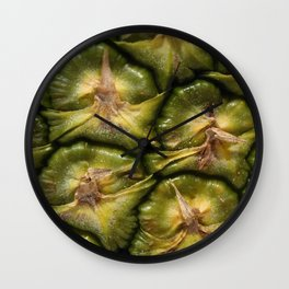 Closeup of a pineapple skin Wall Clock