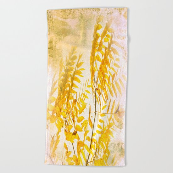 Yellow Branch Beach Towel