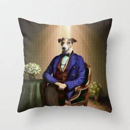 Doctor Declan Dogue in his Parlor Throw Pillow