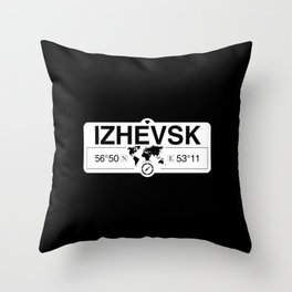 Izhevsk Udmurtia GPS Map Coordinates Throw Pillow
