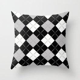 Checkered background Throw Pillow