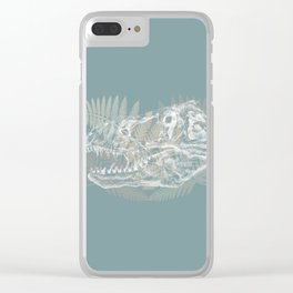 Tyrannosaurus Rex Skull Clear iPhone Case