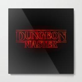 Stranger Dungeon Master Metal Print