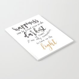 Dumbledore Quote | Happiness can be found... | Watercolor Notebook