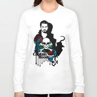captain hook Long Sleeve T-shirts featuring Shadows The Captain Hook by Mad42Sam