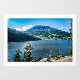 Beartooth Mountains Montana Wilderness Lake Art Print