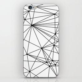 Black & White Geometric Web iPhone Skin