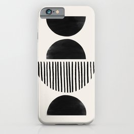 Balancing Moons in Black #2 iPhone Case