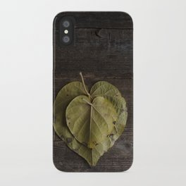 I heart leaves iPhone Case