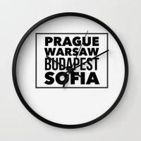 europe Wall Clocks featuring Eastern Europe by aintthatserious