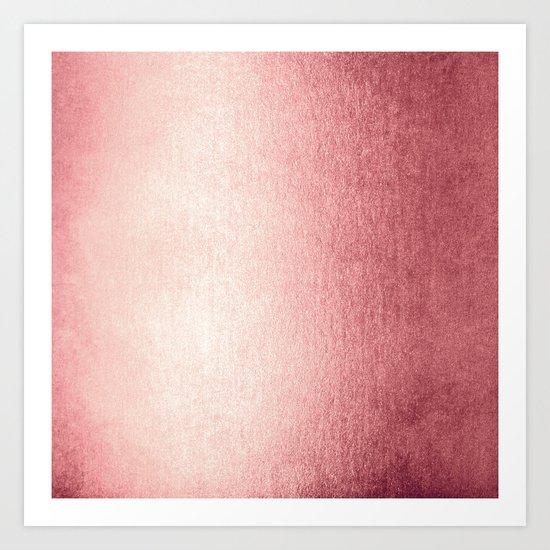 Simply Rose Gold Twilight Art Print