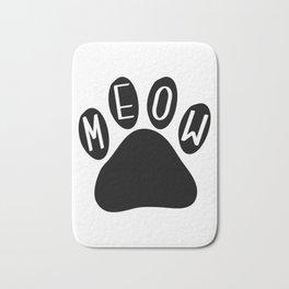 Meow Cat Paw Bath Mat
