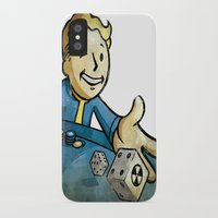 fallout iPhone & iPod Cases featuring fallout character by stavastator