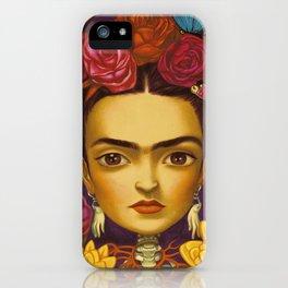 Frida Flowers iPhone Case
