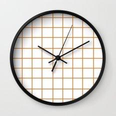 Grid (Bronze/White) Wall Clock