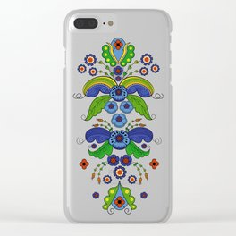 Folklore Flower tapestry Clear iPhone Case