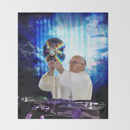 DJ Earth Pope Francis, EDM Holy Father Throw Blanket
