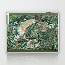 imaginations of mind 3D anaglyph Laptop & iPad Skin
