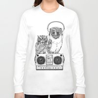 silent Long Sleeve T-shirts featuring Silent Night ANALOG zine by jewelwing