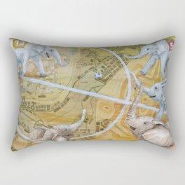 Elephant Football Rectangular Pillow