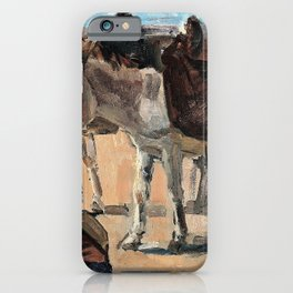Isaac Lazarus Israels - Two donkeys - Digital Remastered Edition iPhone Case
