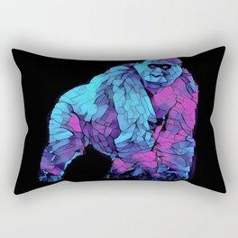 Colorful Lowland Gorilla Rectangular Pillow