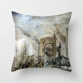 Boy And A Bull  Throw Pillow
