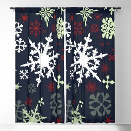 Christmas pattern with snowflakes Blackout Curtain