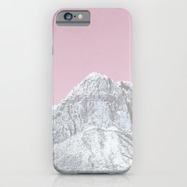 Mojave Pink Sky // Red Rock Canyon Las Vegas Desert Landscape Snowstorm Moon Mountains iPhone Case