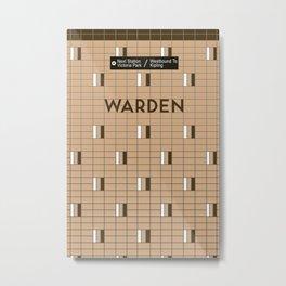 WARDEN | Subway Station Metal Print