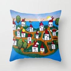 Dream House Island Throw Pillow