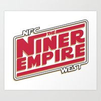 49ers Art Prints featuring The Niner Empire by Meche A