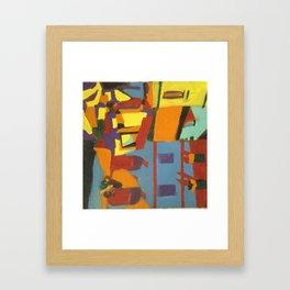 market place in ascoli Framed Art Print