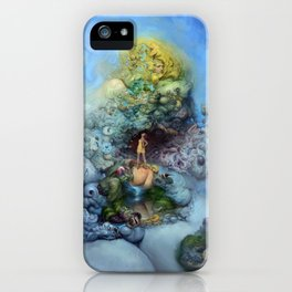 BLUE GOLD FANTASIA iPhone Case