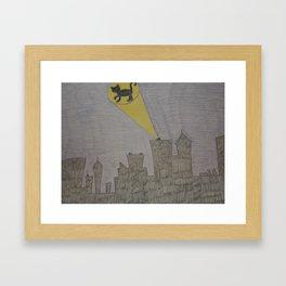 Cat Signal Framed Art Print