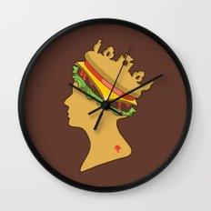 Burger Queen aka Royal With Cheese Wall Clock