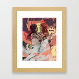 What are you drawing Ryan? // 194 Framed Art Print