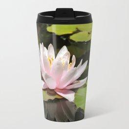 Pink Lily Pad Flower (Reflection) Travel Mug