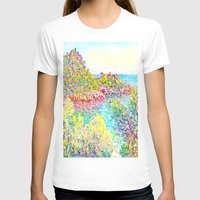 monet T-shirts featuring MONET : Landscape Near Monetcarlo  by PureVintageLove