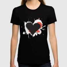 I Heart Live Art II Black MEDIUM Womens Fitted Tee