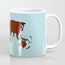 World Map Outline Coffee Mug