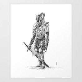 """Turin"", dragonslayer, black blade of Nargothrond Art Print"