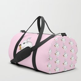 Some'bunny' Loves You (Single Bunny/Pink) Duffle Bag
