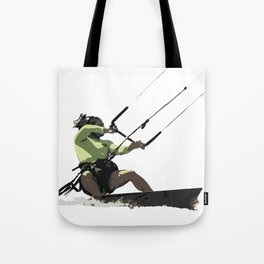 Going With The Wind Kiteboarding Vector Tote Bag