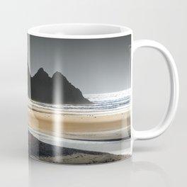 Grey sky at Three Cliffs Bay Coffee Mug