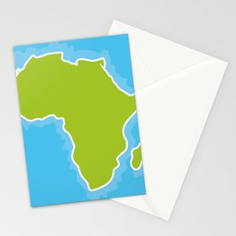map of Africa Continent and blue Ocean. Vector illustration Stationery Cards