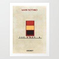 rothko Art Prints featuring Mark Rothko by federico babina