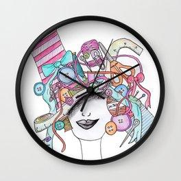 365 cabelos - sewing Wall Clock
